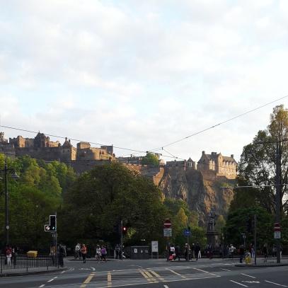 Blick auf Edinburgh Castle