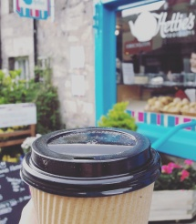Coffee stop at Pitlochry